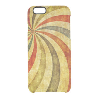 Vintage Grunge Background as Carnival Circus Clear iPhone 6/6S Case
