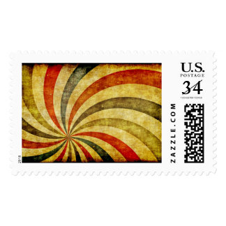 Vintage Grunge Background as Carnival Circus Postage