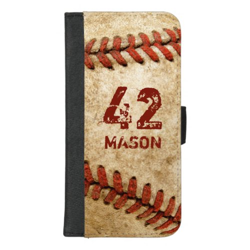 Vintage Grunge Baseball Personalized Number Name Phone Case