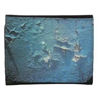Vintage Grunge Blue Cracked Paint Wallet
