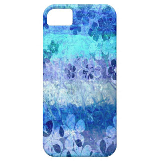 Vintage grunge blue floral pattern 3 iPhone SE/5/5s case
