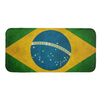 Vintage Grunge Brazil Flag Bandeira do Brasil iPhone SE/5/5s/5c Pouch