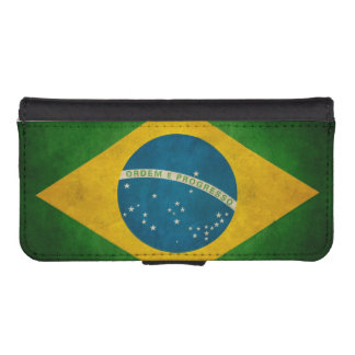 Vintage Grunge Brazil Flag Bandeira do Brasil iPhone SE/5/5s Wallet