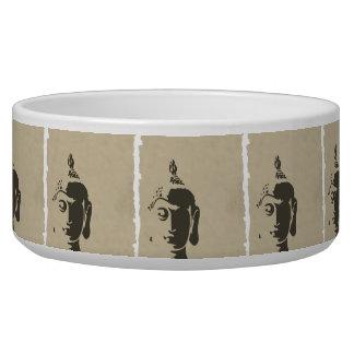 Vintage grunge Buddha art hipster trendy retro chi Pet Water Bowls