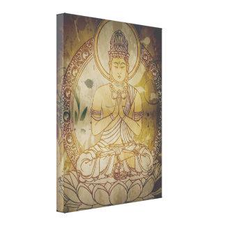 Vintage Grunge Buddha Canvas Print