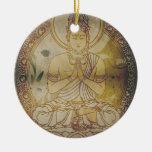 Vintage Grunge Buddha Christmas Ornaments