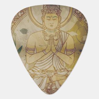 Vintage Grunge Buddha Guitar Pick