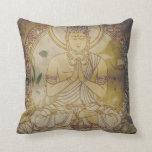 Vintage Grunge Buddha Pillow