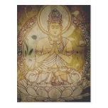 Vintage Grunge Buddha Postcard