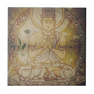 Vintage Grunge Buddha Ceramic Tiles