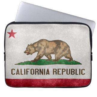 Vintage Grunge California Flag Laptop Sleeve