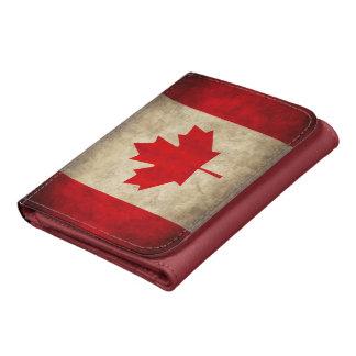 Vintage Grunge Canada Flag Wallet