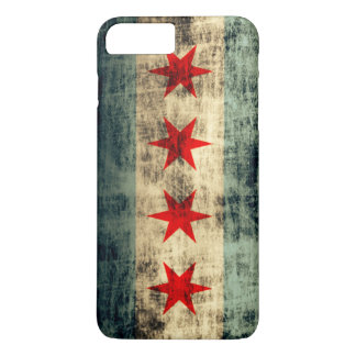 Vintage Grunge Chicago Flag iPhone 8 Plus/7 Plus Case