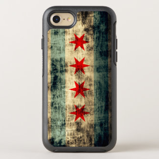 Vintage Grunge Chicago Flag Windy City OtterBox Symmetry iPhone 7 Case