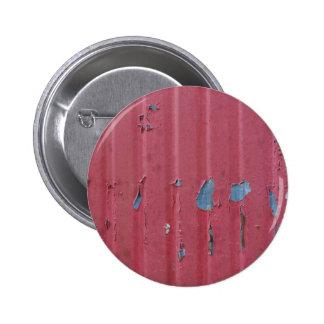 Vintage grunge corrugated steel background badges