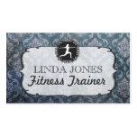 Vintage Grunge Damask Gym Fitness Trainer Cards Business Card Templates