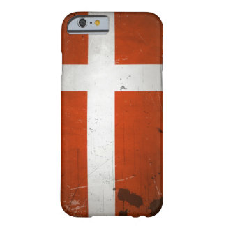 Vintage Grunge Denmark Flag Barely There iPhone 6 Case