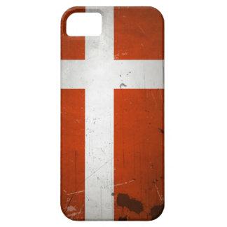 Vintage Grunge Denmark Flag iPhone SE/5/5s Case