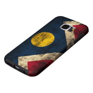 Vintage Grunge Denver Colorado Flag Samsung Galaxy S6 Case