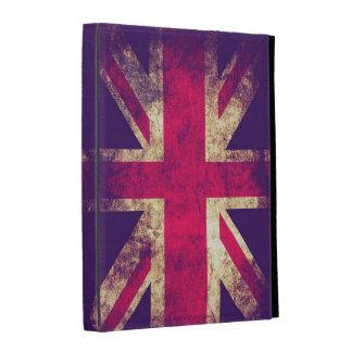 Vintage Grunge Design British Flag iPad Folio Cover