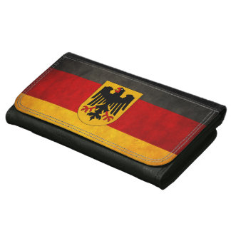 Vintage Grunge Deutschland Flag Germany Flag Wallet