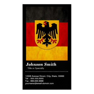 Vintage Grunge Deutschland Germany Flag - QR Code Double-Sided Standard Business Cards (Pack Of 100)