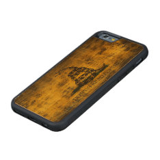 Vintage Grunge Don't Tread On Me Flag Carved Cherry Iphone 6 Bumper Case at Zazzle