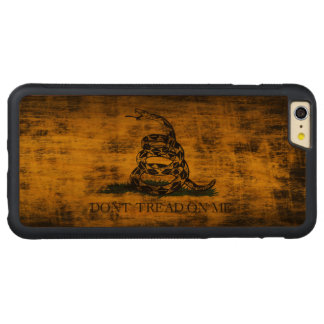 Vintage Grunge Don't Tread On Me Flag Carved Cherry iPhone 6 Plus Bumper Case
