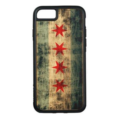 9807e8d27c Vintage Chicago Flag Distressed Carved Maple iPhone 6 Slim Case | Zazzle.com