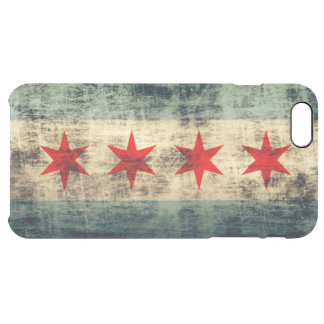 Vintage Grunge Flag of Chicago Uncommon Clearly™ Deflector iPhone 6 Plus Case