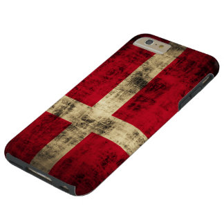 Vintage Grunge Flag of Denmark Tough iPhone 6 Plus Case