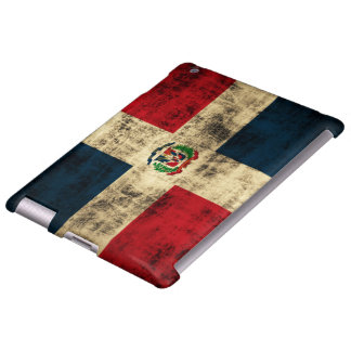 Vintage Grunge Flag of Dominican Republic
