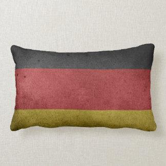 Vintage Grunge flag of Germany Lumbar Pillow