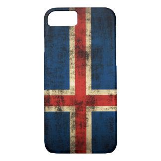 Vintage Grunge Flag of Iceland iPhone 7 Case