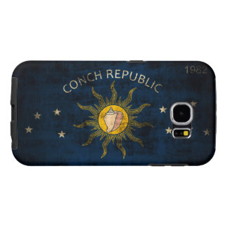 Vintage Grunge Flag of Key West Florida Samsung Galaxy S6 Case