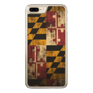 Vintage Grunge Flag of Maryland Carved iPhone 7 Plus Case