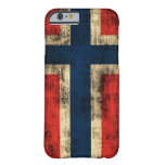 Vintage Grunge Flag of Norway Barely There iPhone 6 Case