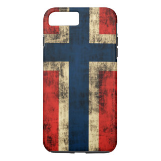Vintage Grunge Flag of Norway iPhone 7 Plus Case