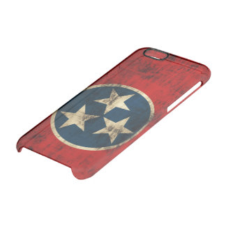 Vintage Grunge Flag of Tennessee Uncommon Clearly™ Deflector iPhone 6 Case
