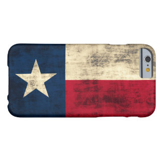 Vintage Grunge Flag of Texas Barely There iPhone 6 Case