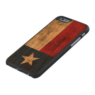 Vintage Grunge Flag of Texas Carved® Cherry iPhone 6 Case