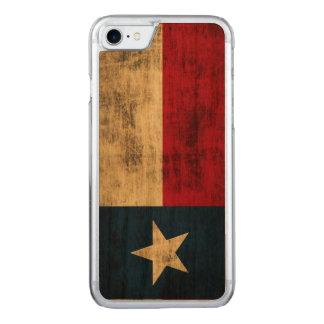 Vintage Grunge Flag of Texas Carved iPhone 7 Case