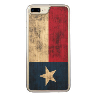 Vintage Grunge Flag of Texas Carved iPhone 7 Plus Case