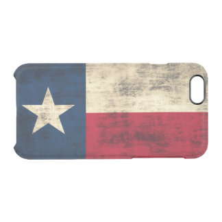 Vintage Grunge Flag of Texas Clear iPhone 6/6S Case