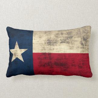 Vintage Grunge Flag of Texas Pillows