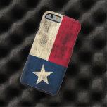 Vintage Grunge Flag of Texas Tough iPhone 6 Case