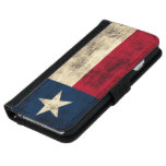 Vintage Grunge Flag of Texas Wallet Phone Case For iPhone 6/6s