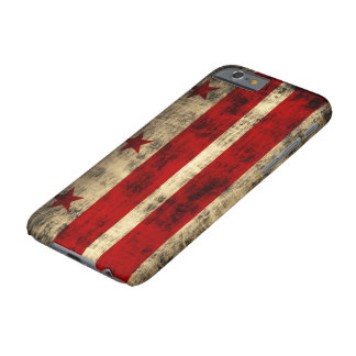 Vintage Grunge Flag of Washington D.C. Barely There iPhone 6 Case