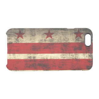 Vintage Grunge Flag of Washington D.C. Uncommon Clearly™ Deflector iPhone 6 Case