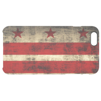 Vintage Grunge Flag of Washington D.C. Uncommon Clearly™ Deflector iPhone 6 Plus Case